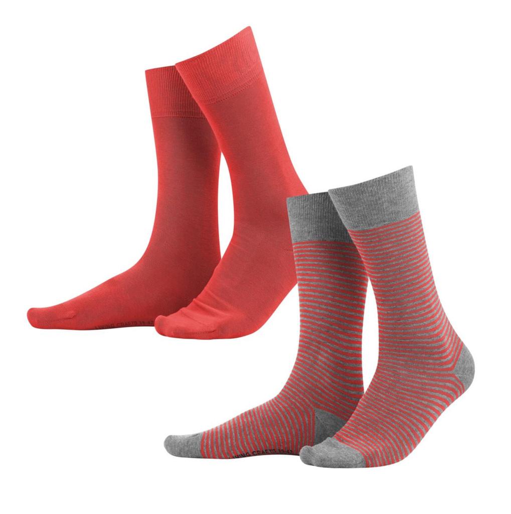 Organic Cotton Men's socks Color: 587 poppy/grey