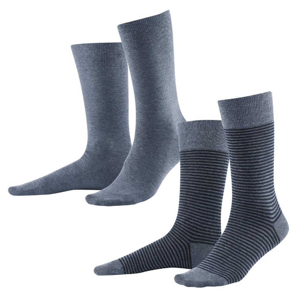 Organic Cotton Men's socks Color: Stone Grey / Antracite Melange