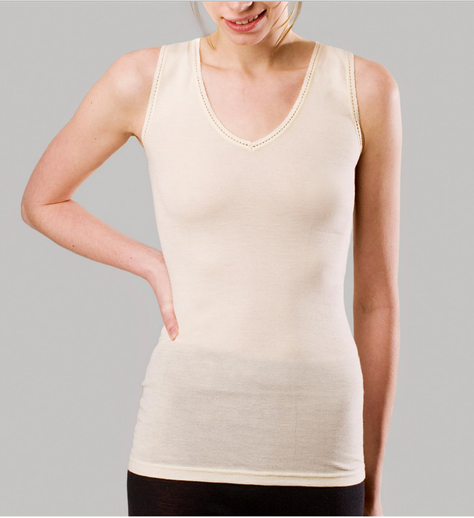 Women's Sleeveless Shirt Color: Natural
