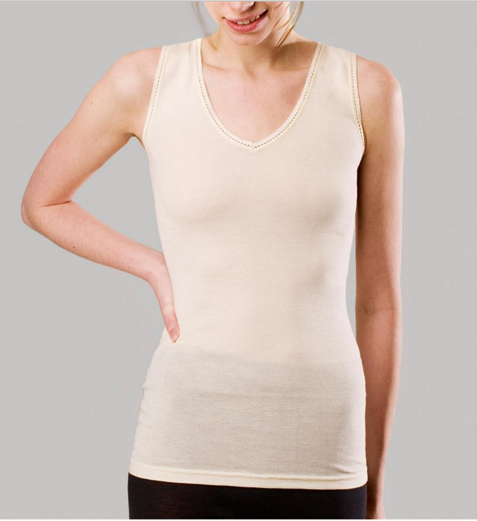Women's Sleeveless Shirt Color: Natural