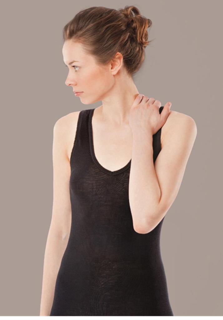 Women's Sleeveless Shirt Color: Black