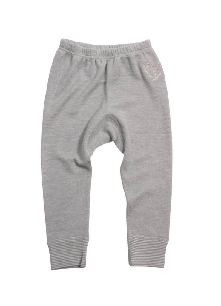 Organic Wool/ Silk Long Johns Color: grey melange