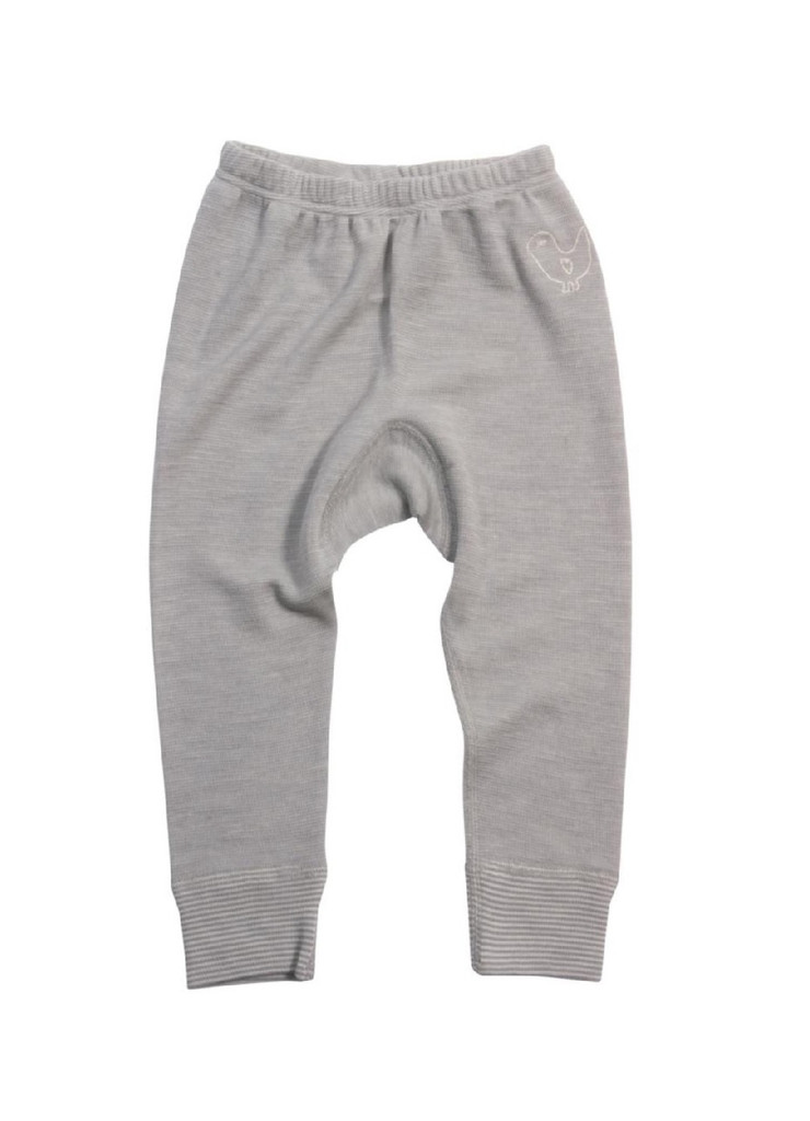 Organic Wool/ Silk Long Johns Color: grey melange