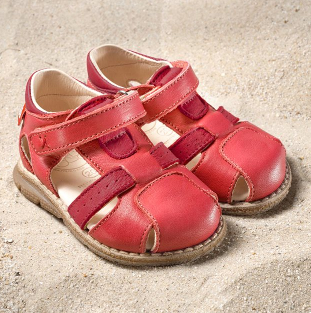 "Natural Leather Sandals | Pololo ""Playa"" berry"