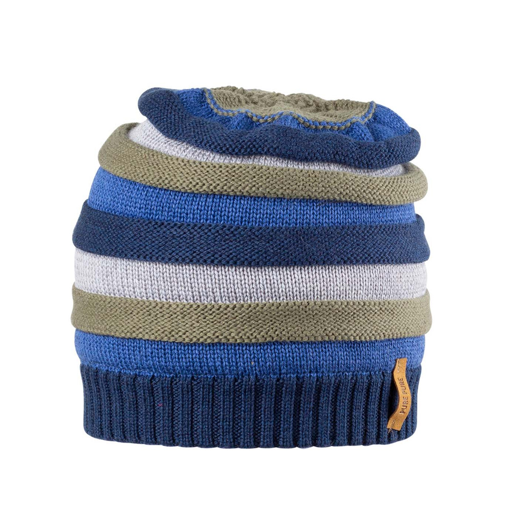 Kids Organic Wool Cotton Silk Hat Color: 30 navy-blue
