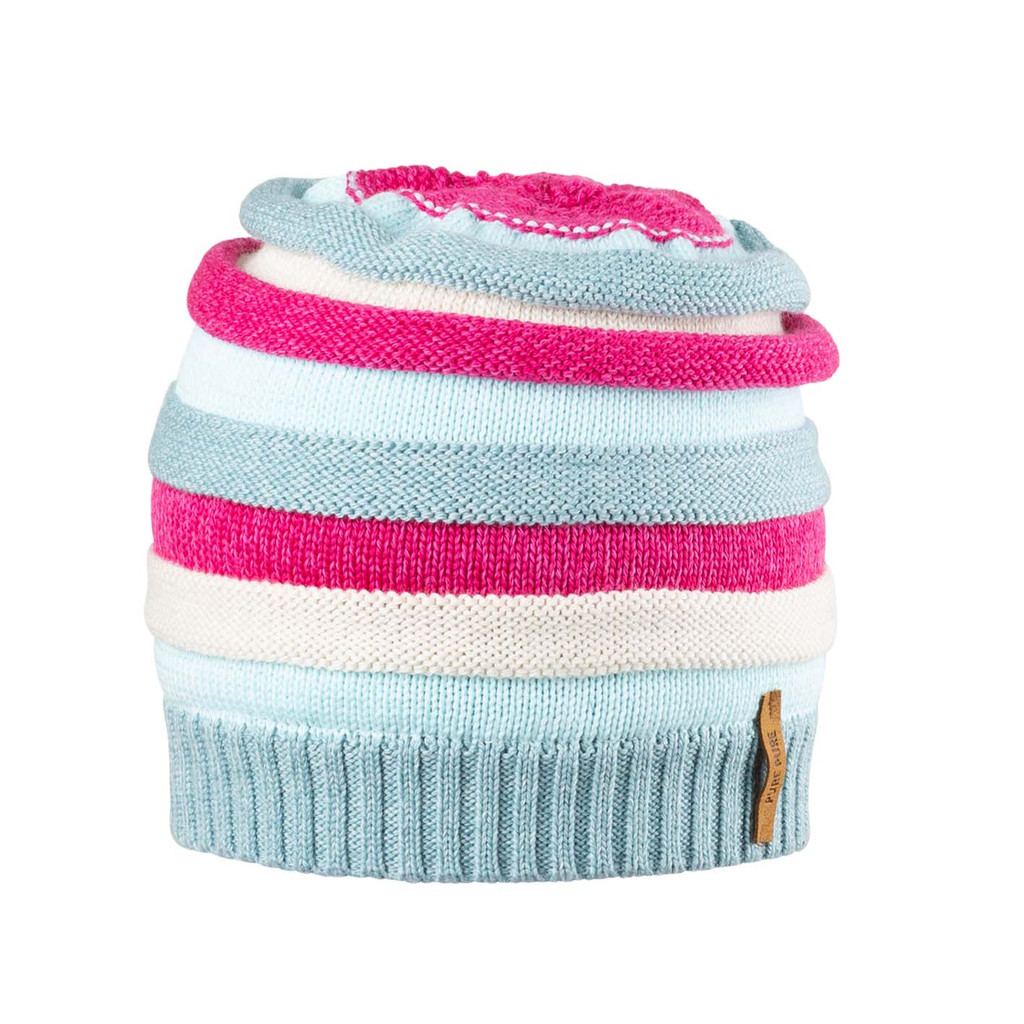 Kids Organic Wool Cotton Silk Hat Color: 43 mint