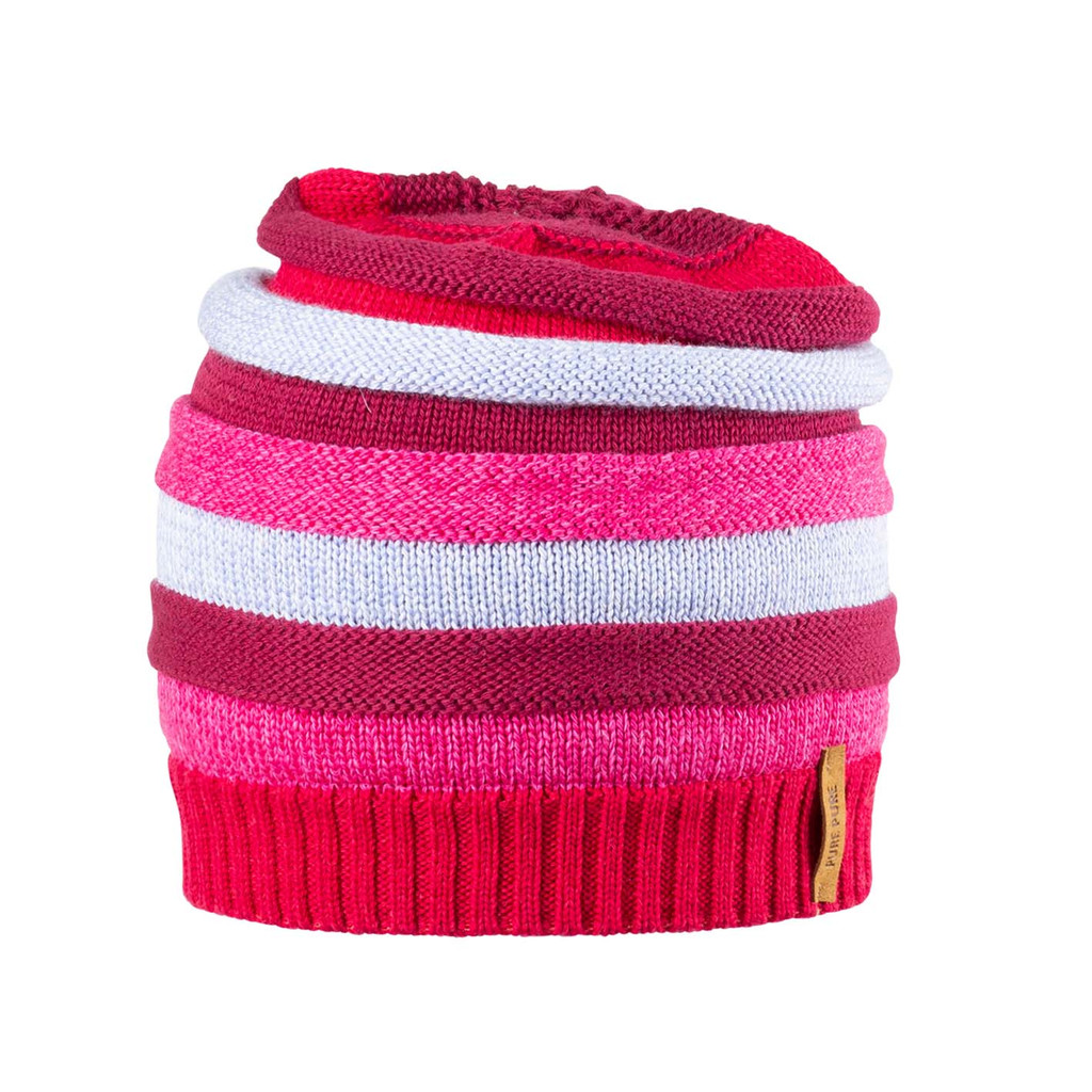 Kids Organic Wool Cotton Silk Hat Color: 272 rasperry