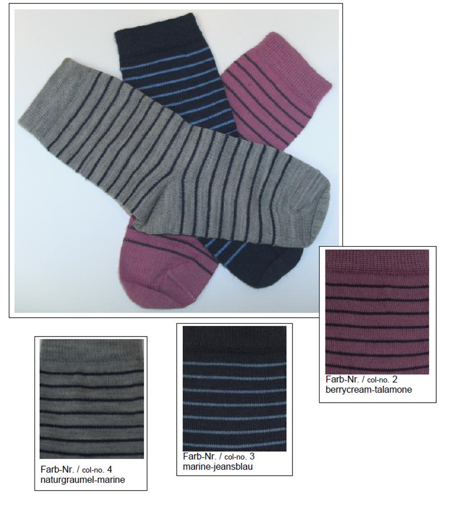 Organic Wool Cotton Kids' Socks | Grodo 14096