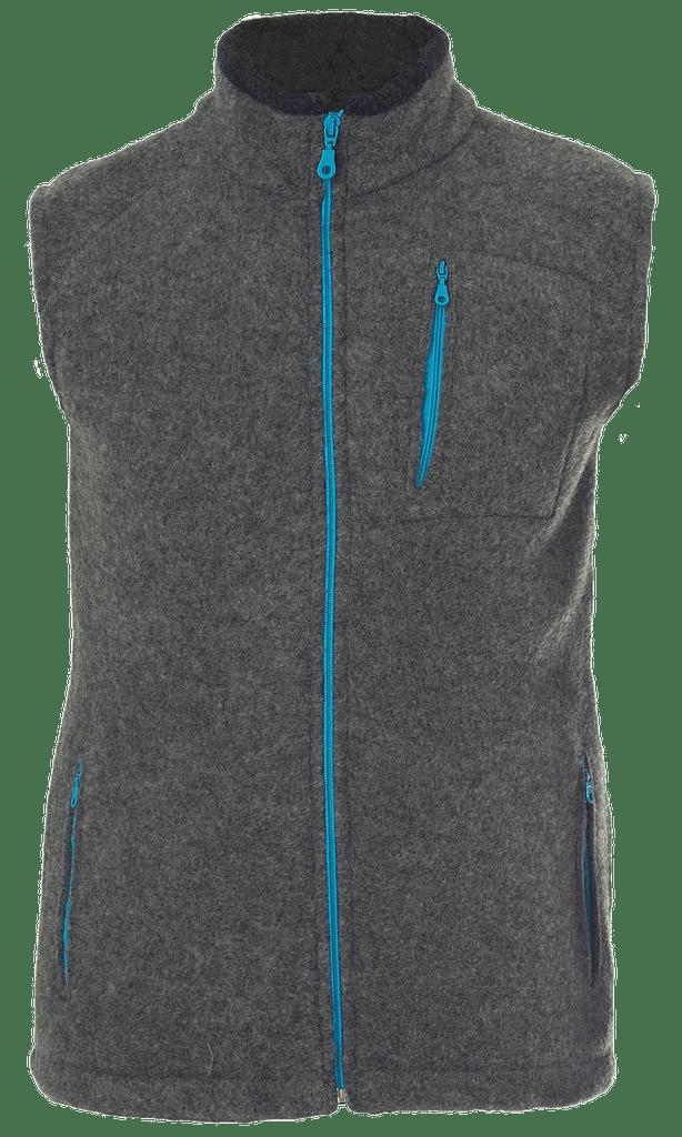 Organic Wool Fleece Men's Vest Color: 14 Slate Grey