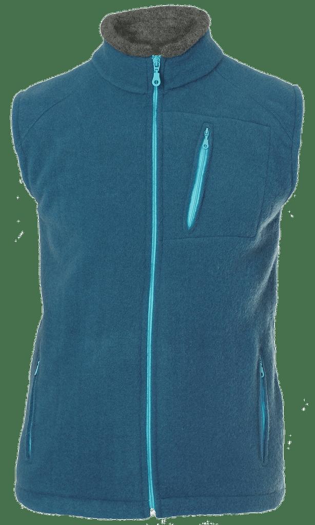 Organic Wool Fleece Men's Vest Color: 05 Pasific
