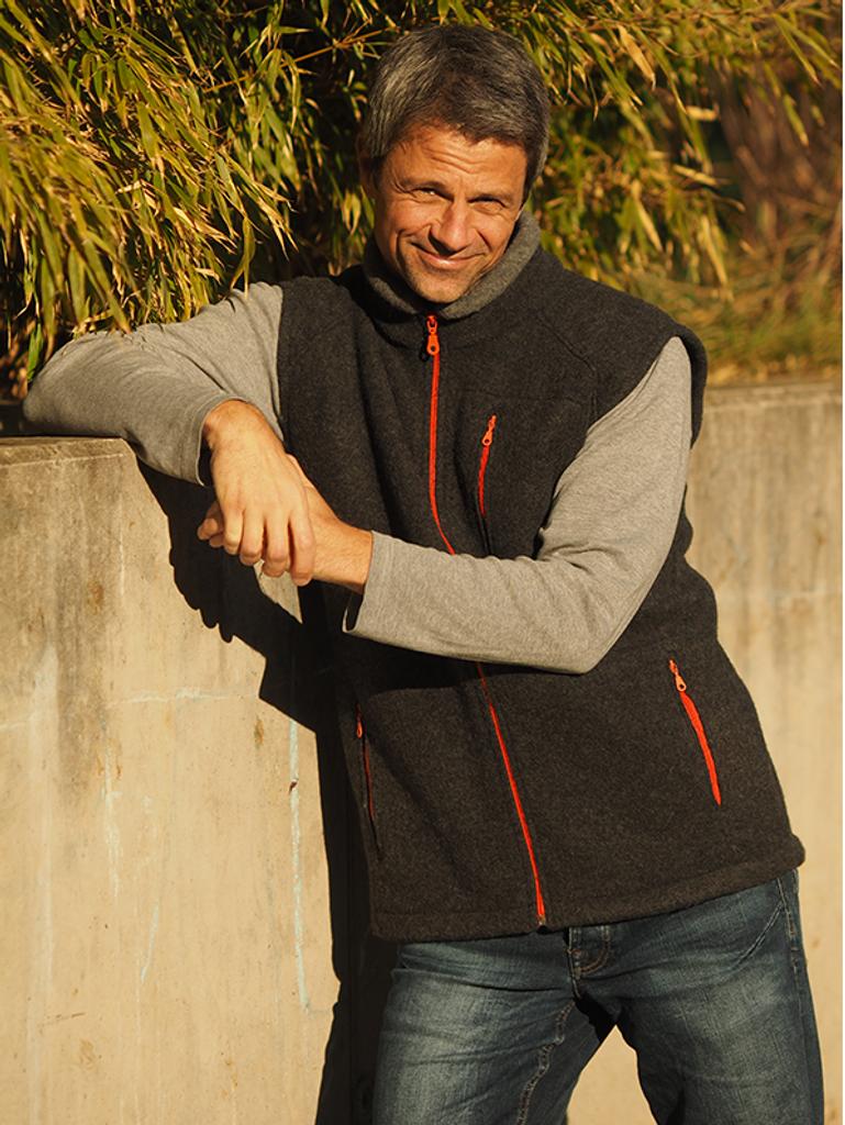 Organic Wool Fleece Men's Vest