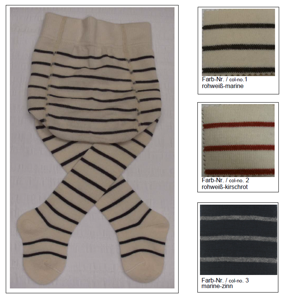 Organic Wool Cotton Tights for Babies | Grodo 74080