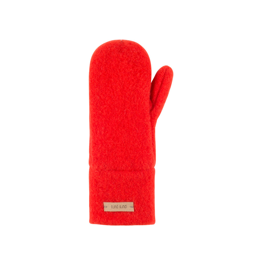 Babies Kids Organic Wool Mittens Color:  15 rot