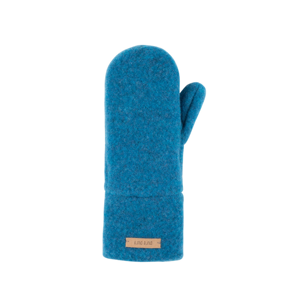 Babies Kids Organic Wool Mittens Color:  33 petrol