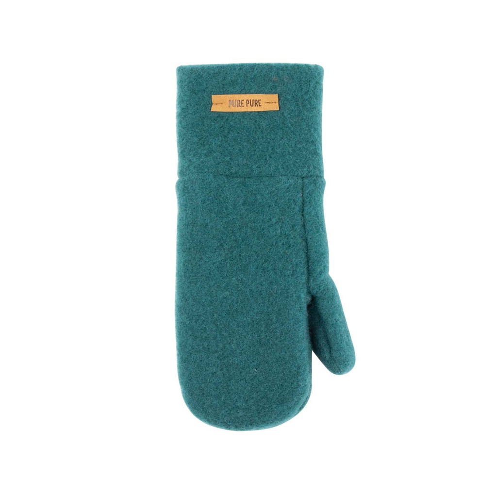 Babies Kids Organic Wool Mittens Color: 481 smoke green