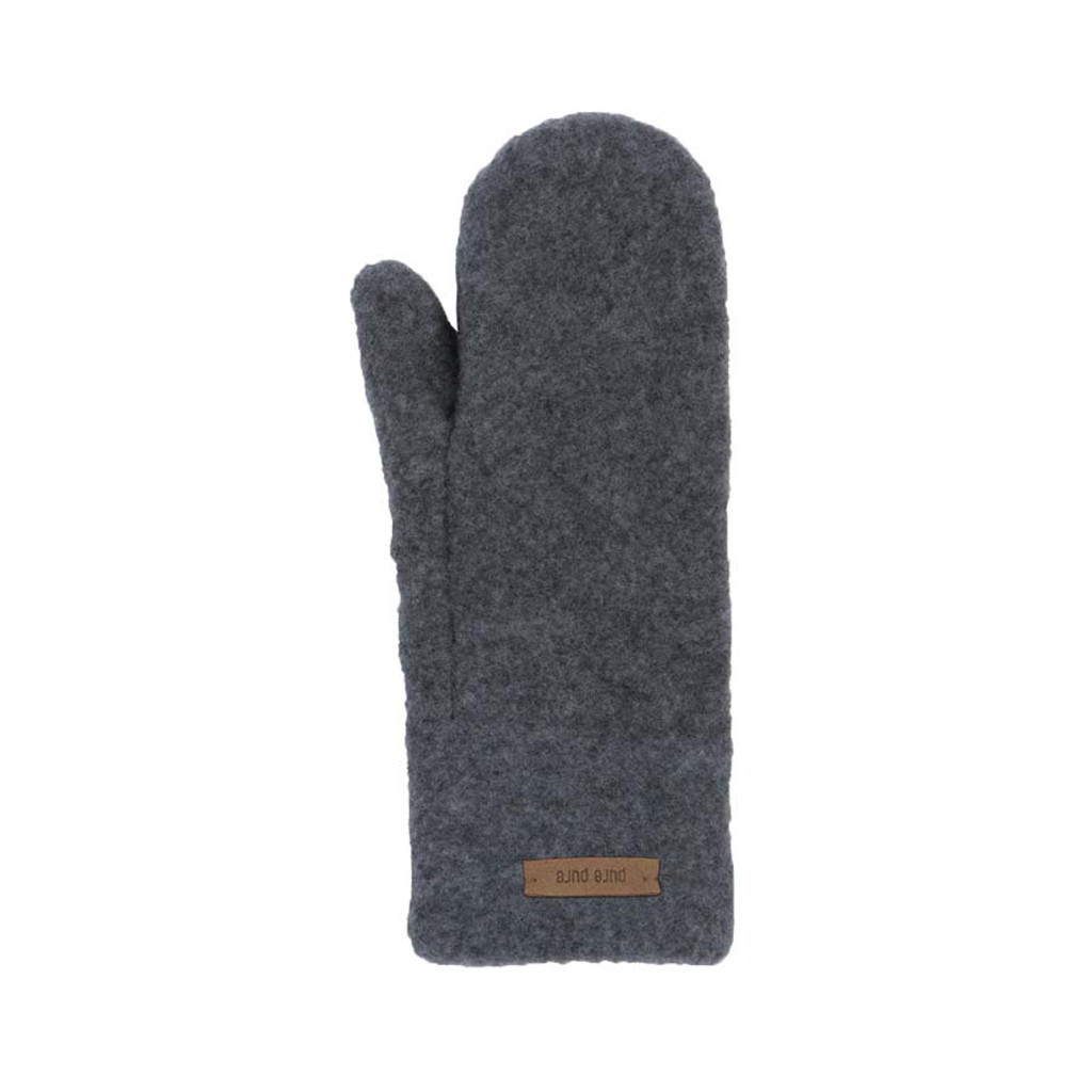 Babies Kids Organic Wool Mittens Color:  96 schiefer