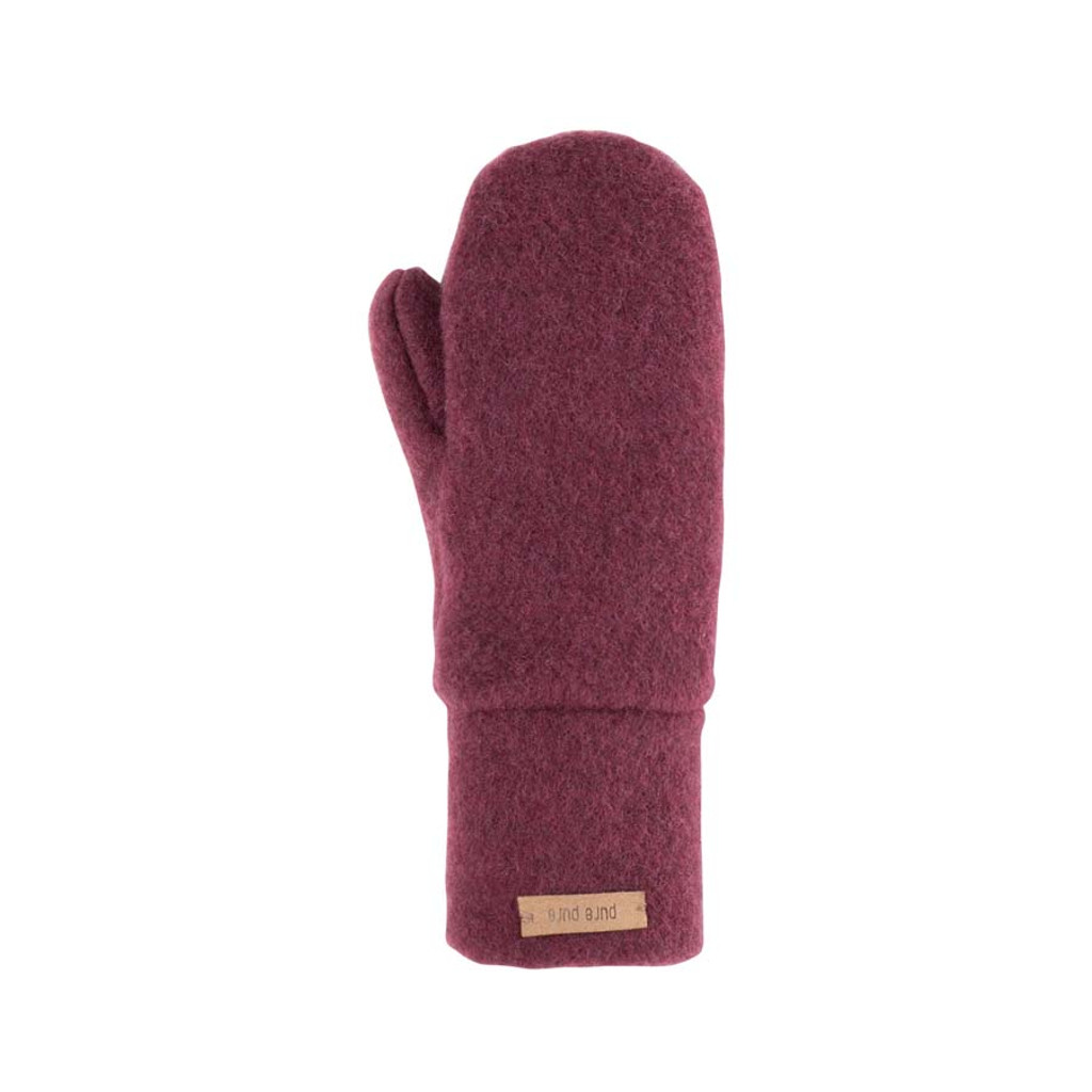 Babies Kids Organic Wool Mittens Color:  18 wine red