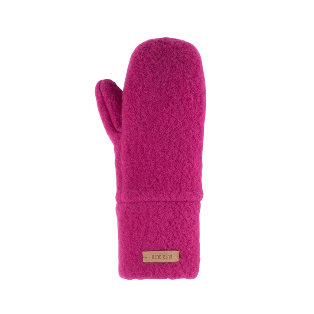 Babies Kids Organic Wool Mittens Color:  271 pink berry