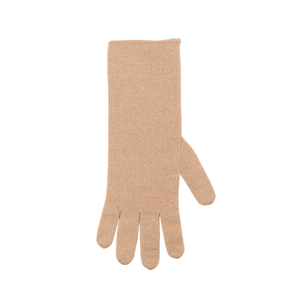 Women Organic Wool Cashmere Gloves Color: 87 toffee