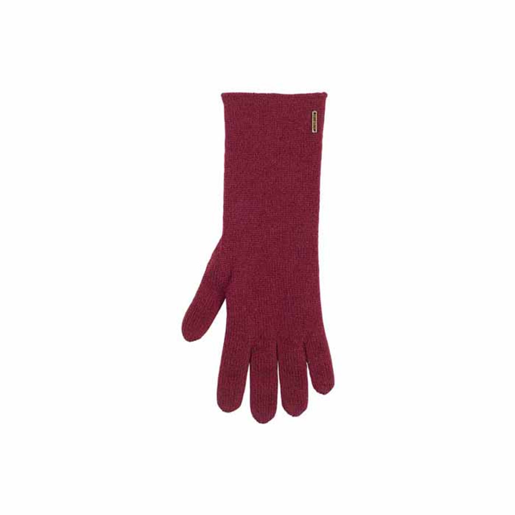 Women Organic Wool Cashmere Gloves Color: 18 burgund