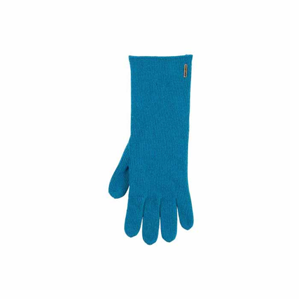 Women Organic Wool Cashmere Gloves Color: 33 petrol