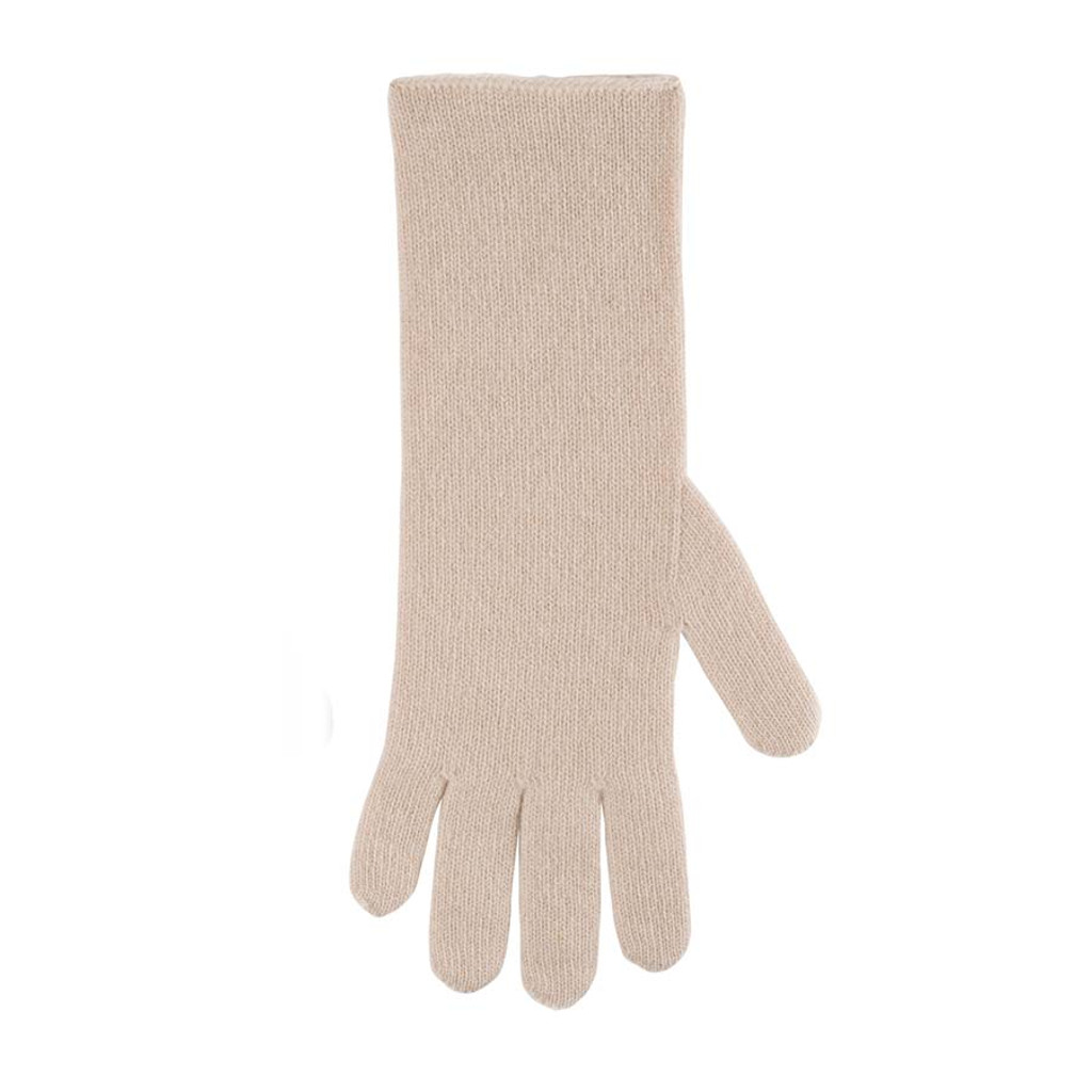 Women Organic Wool Cashmere Gloves Color: 89 vanille