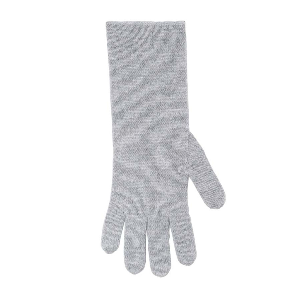 Women Organic Wool Cashmere Gloves Color: 93 silver grey
