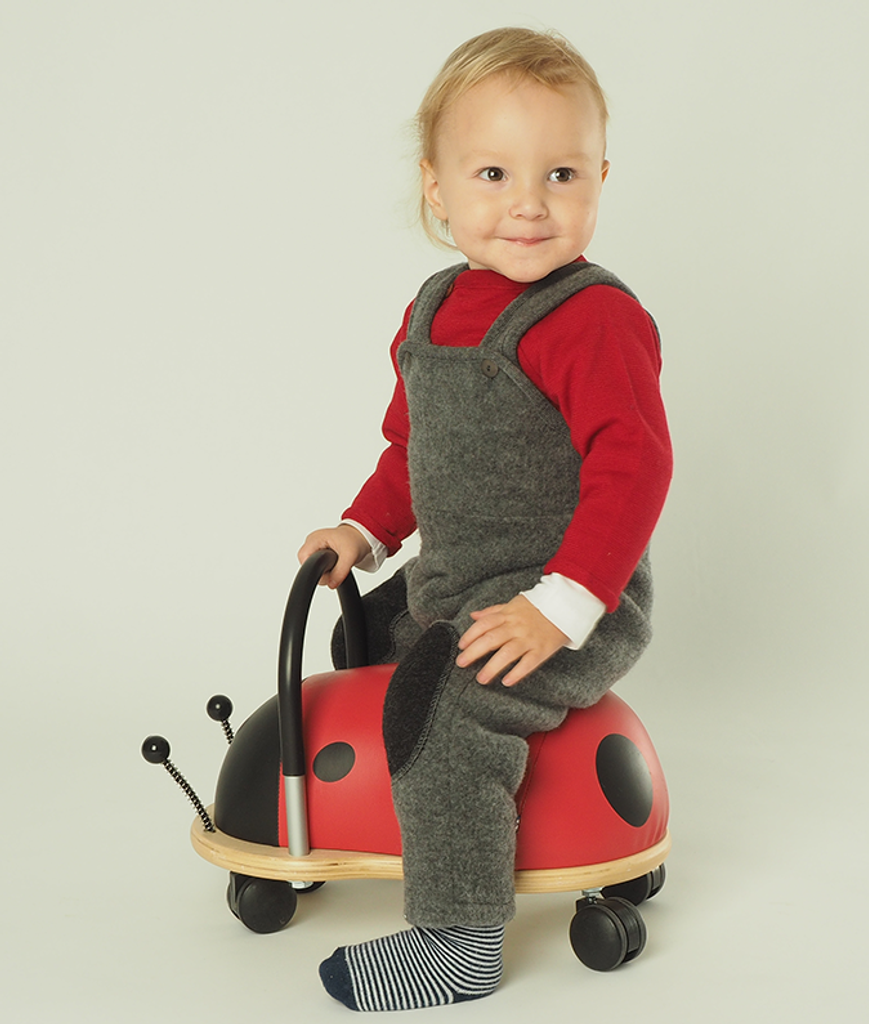 Babys Kids Organic Wool Fleece Trousers Reenforced Knees
