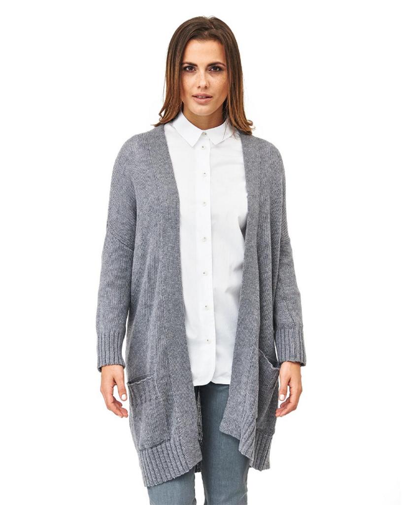 Organic Knitted Wool Cardigan