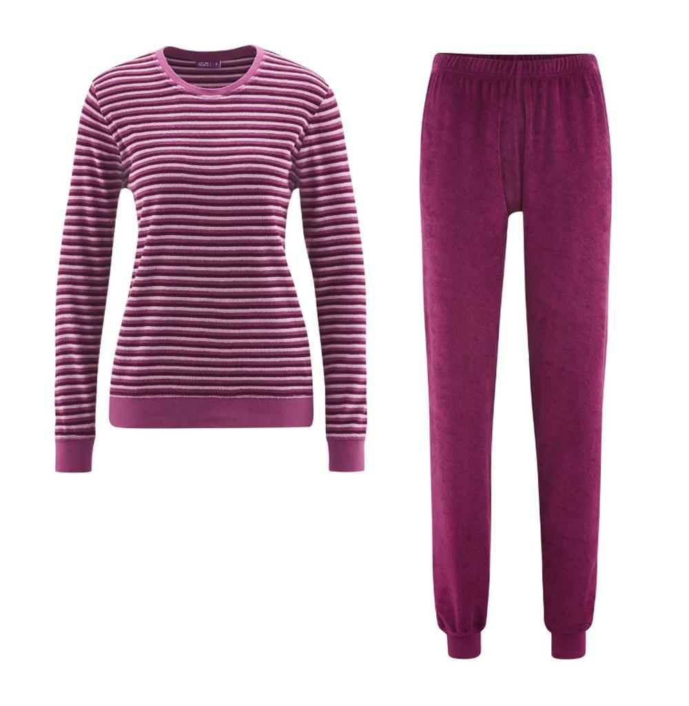 Women's Terry Pajamas Color: wild berries