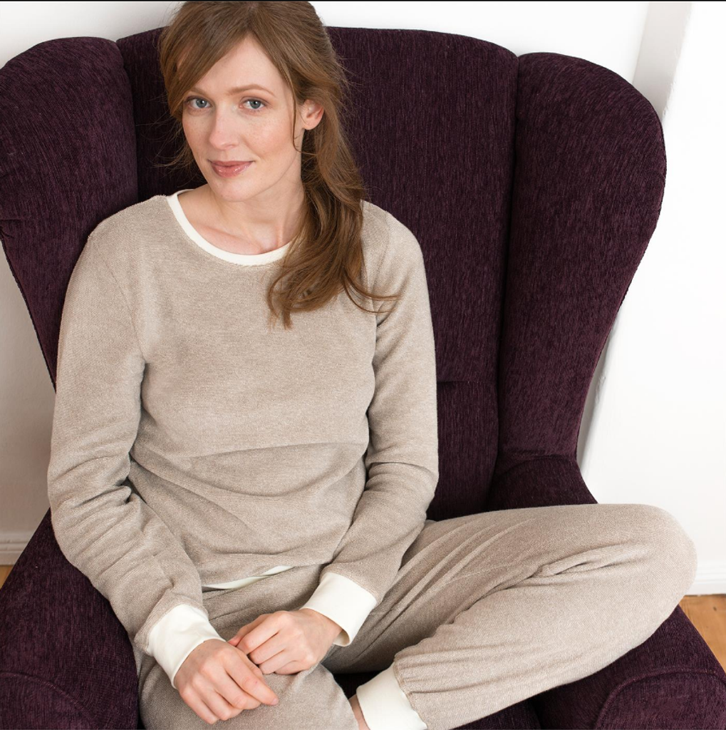 Women's Terry Pajamas Color: alpaca