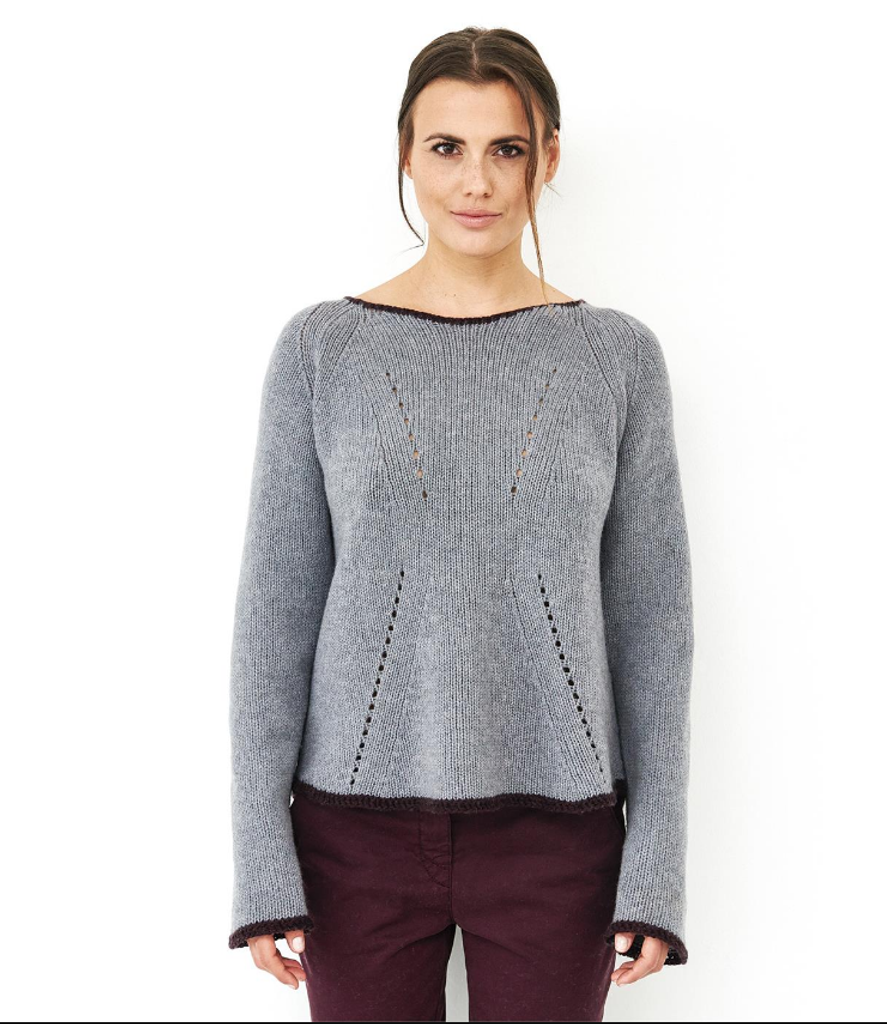 Organic Knitted Wool Pullover