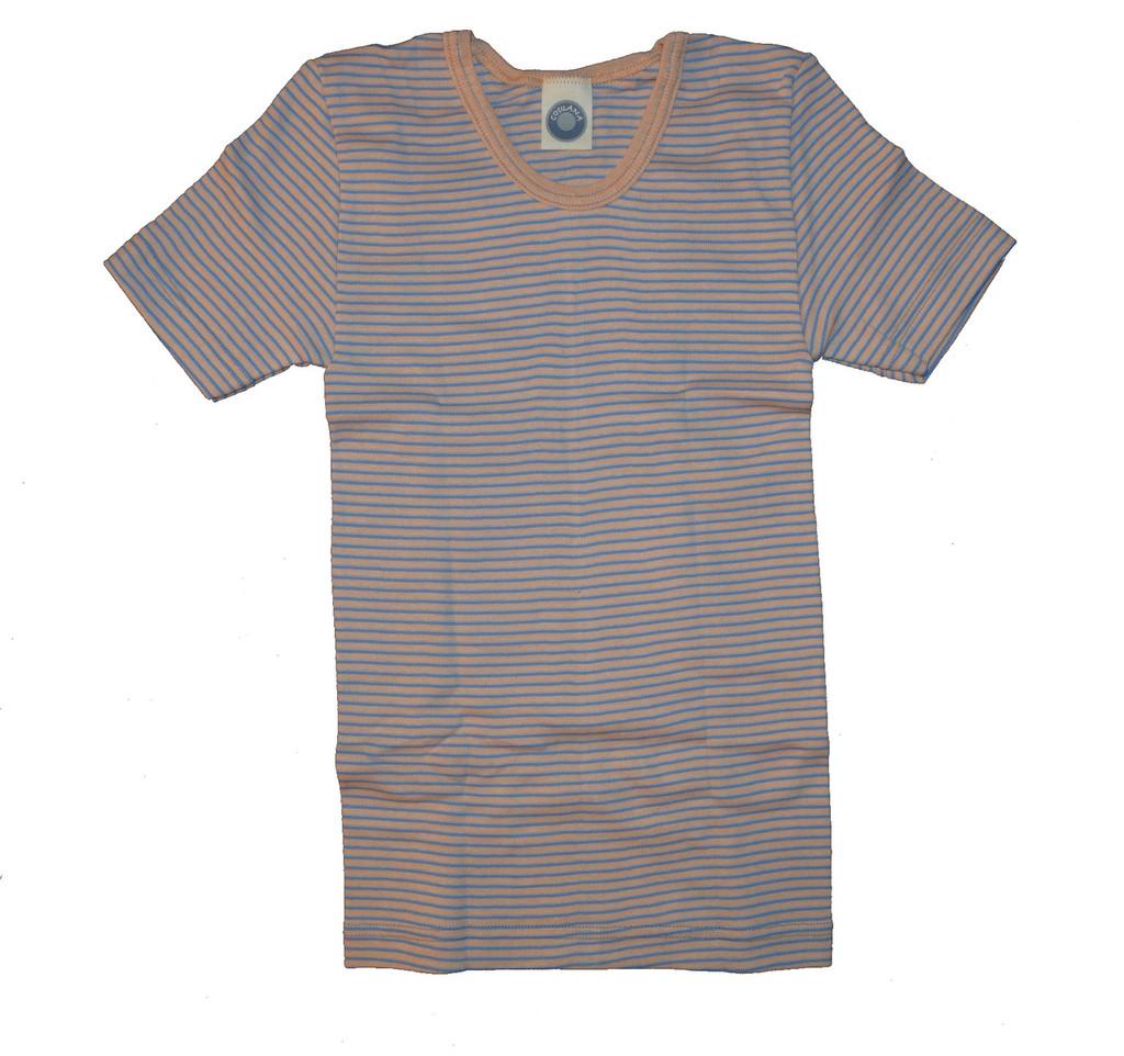 Blue/ Apricot/ Natural Stripes