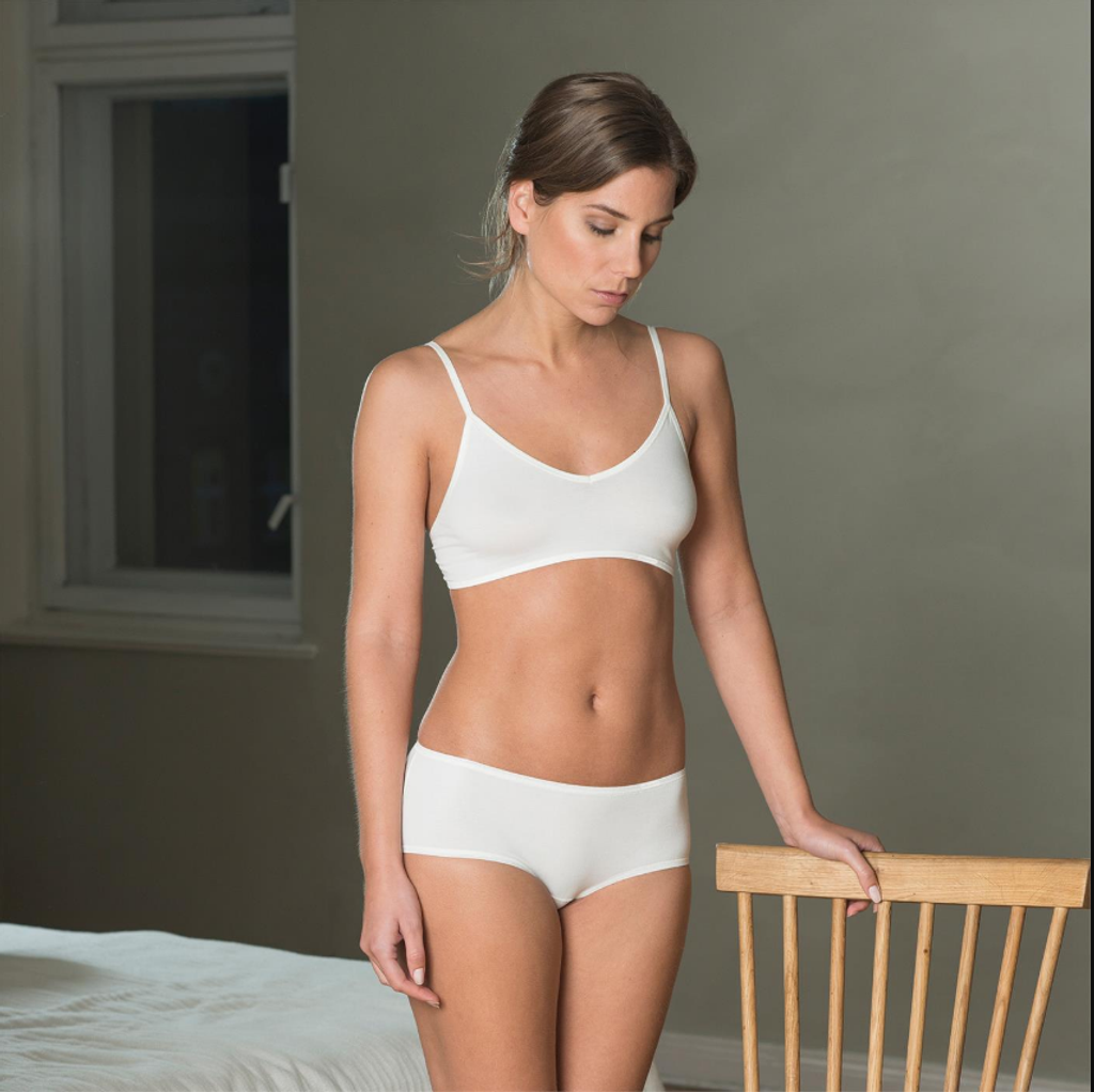 Bustier , Organic Cotton Color: 600 offwhite