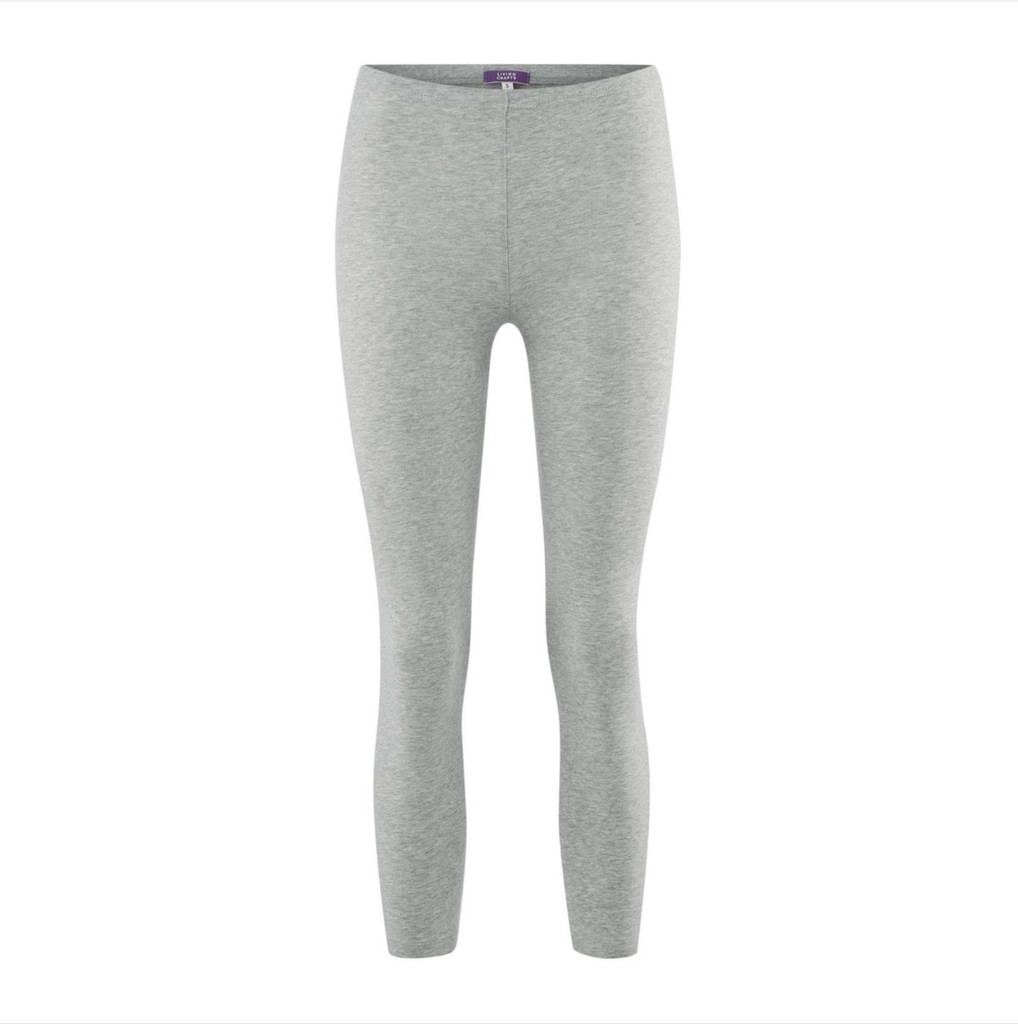 Women's  Organic Cotton 7/8 Leggings Color: 638 Stone Grey