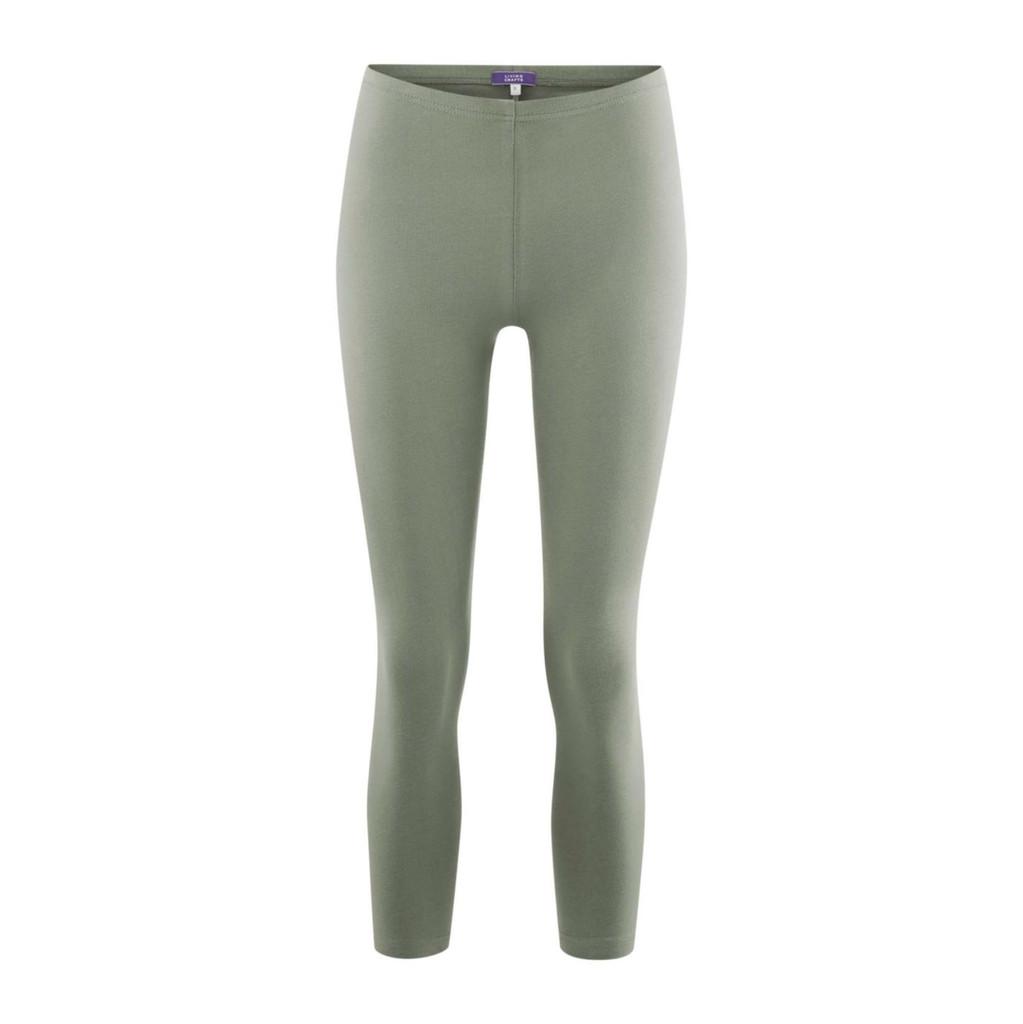 Women's  Organic Cotton 7/8 Leggings Color: 809 light khaki