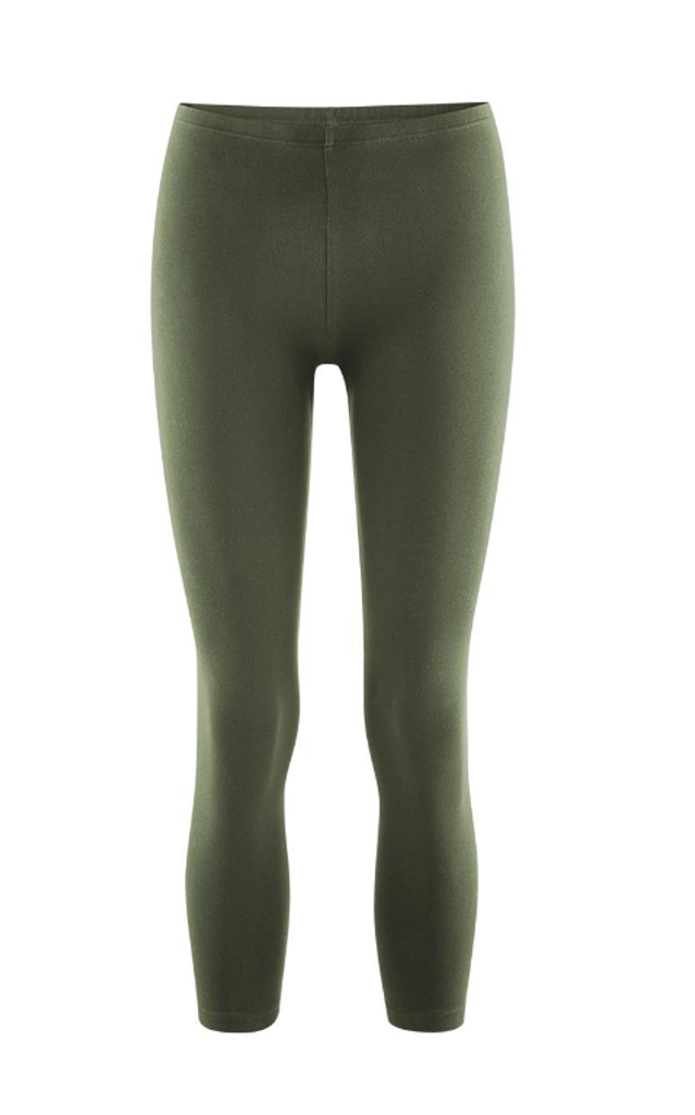Women's  Organic Cotton 7/8 Leggings Color: 650 olive