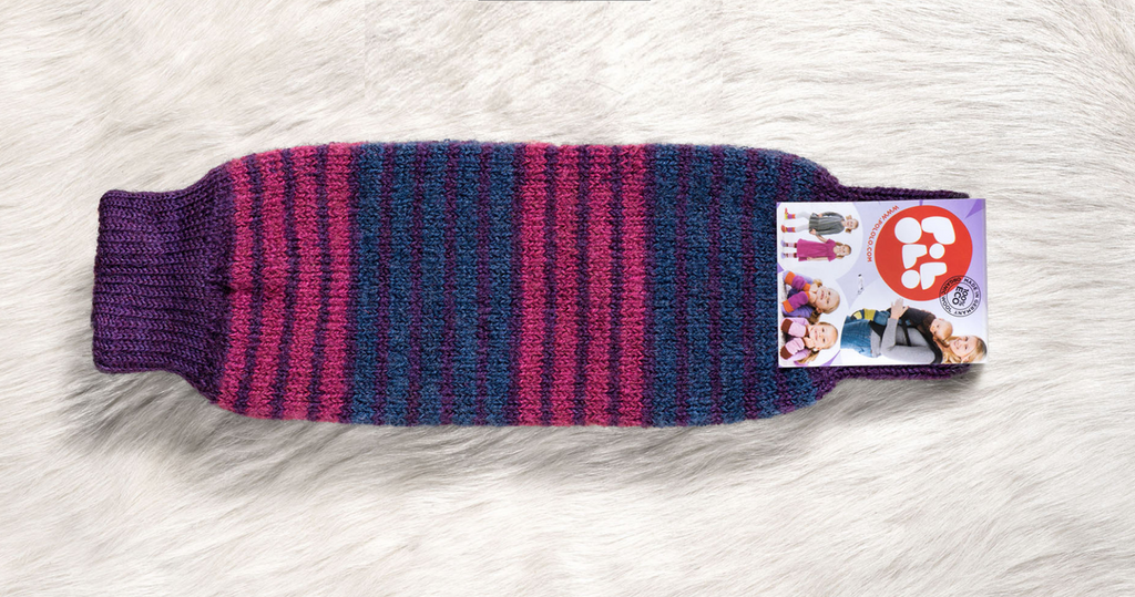 Organic Wool Leg and Arm Warmer Color: aubergine pink