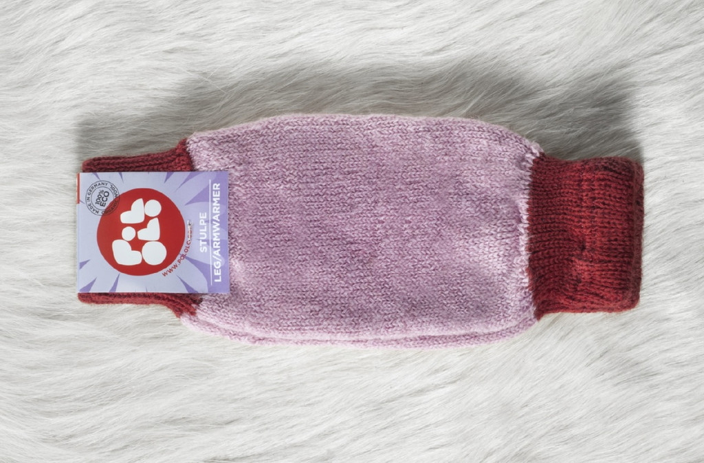 Organic Wool Leg and Arm Warmer Color:  170 Red rose