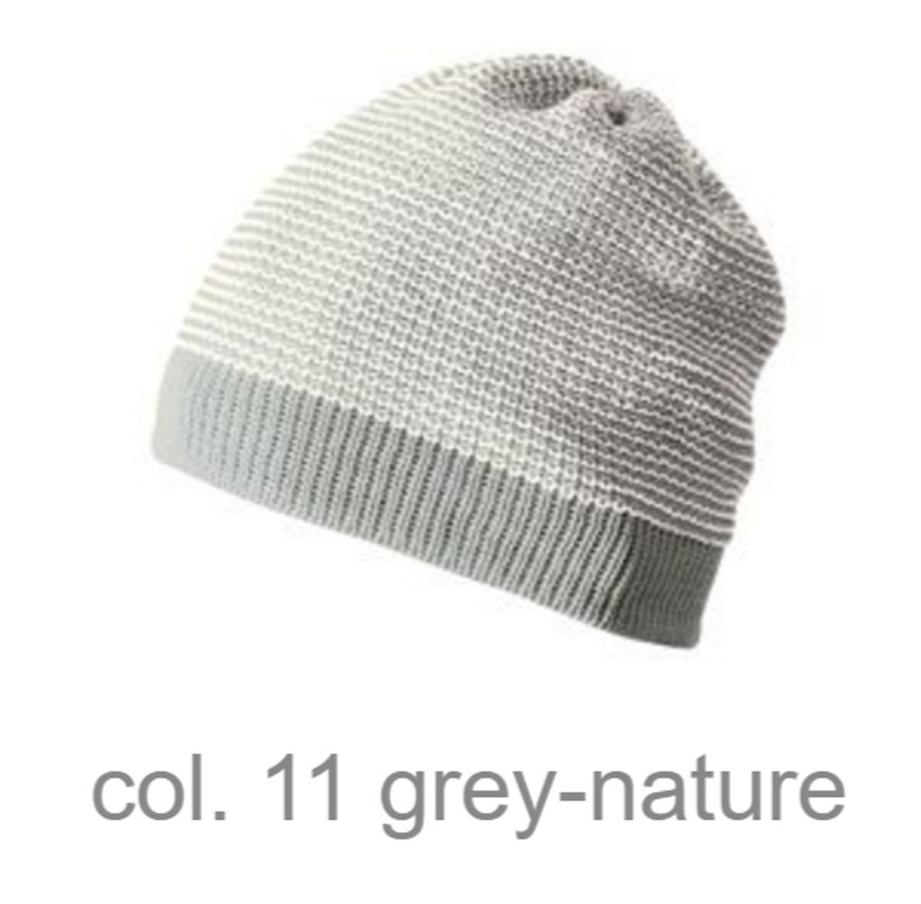 Organic Merino Wool Beanie Color: grey-nature