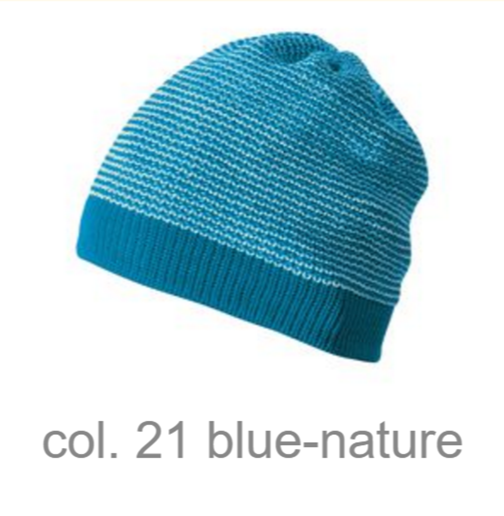 Organic Merino Wool Beanie Color: blue-nature