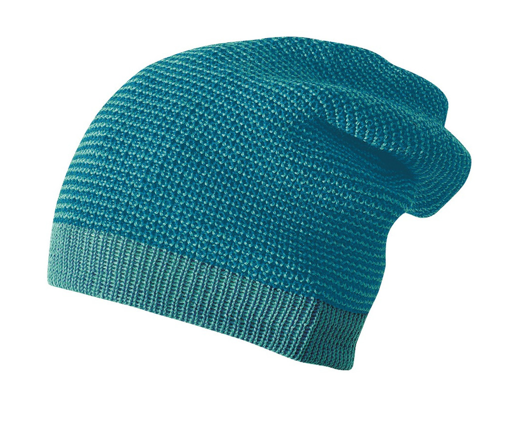 Merino Wool Long Beanie Color:  922 Blue Lagoon