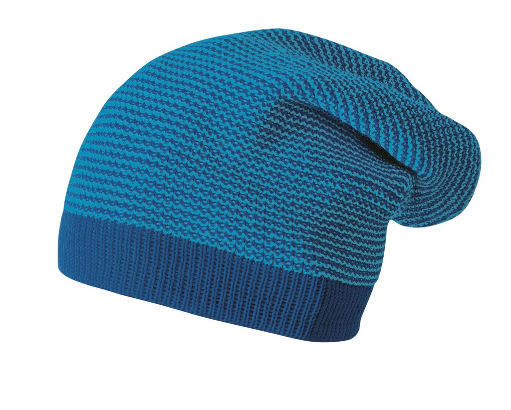 Merino Wool Long Beanie Color: navy-blue