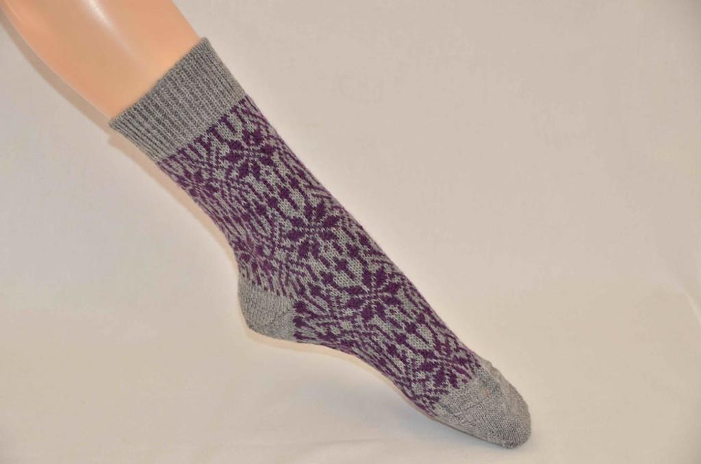 Organic Merino Wool Socks Color: 149 Lt. grey/Lilac