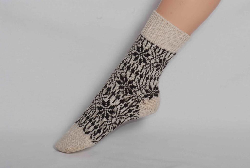 Organic Merino Wool Socks Color: 15 Natural/Brown