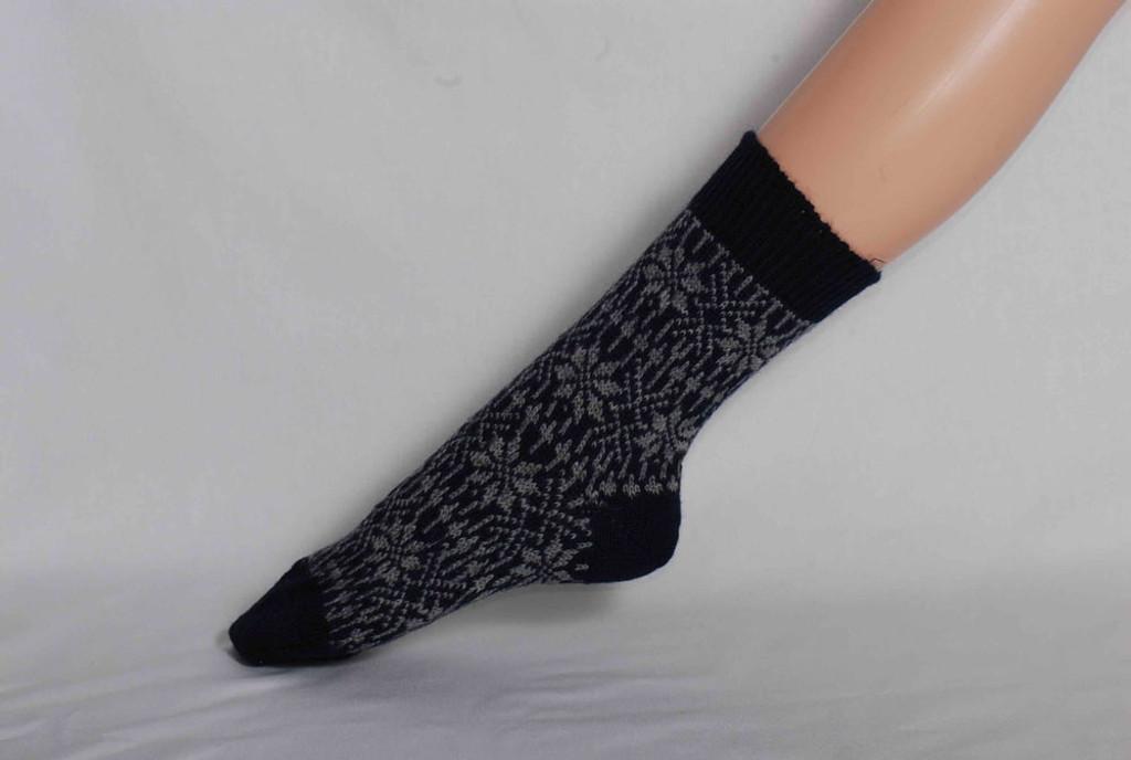 Organic Merino Wool Socks Color: 66 Navy/Grey