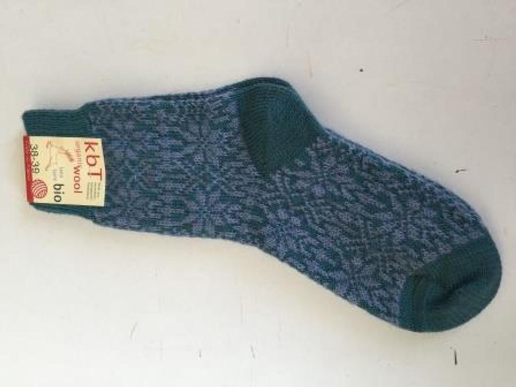 Organic Merino Wool Socks Color: 157 Turquoise/Opal