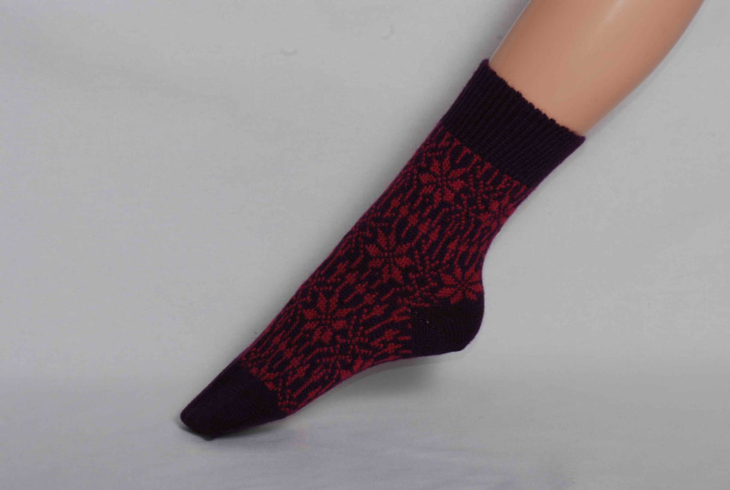 Organic Merino Wool Socks Color: 125 Lilac/Pink