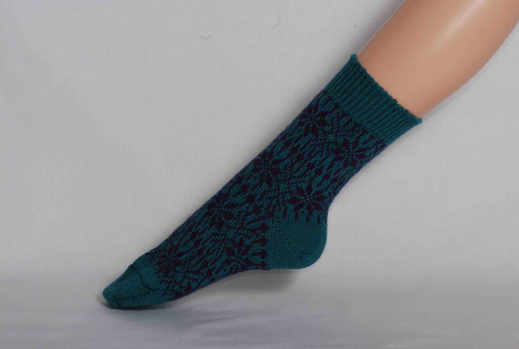 Organic Merino Wool Socks Color: 180 Turquoise/Navy
