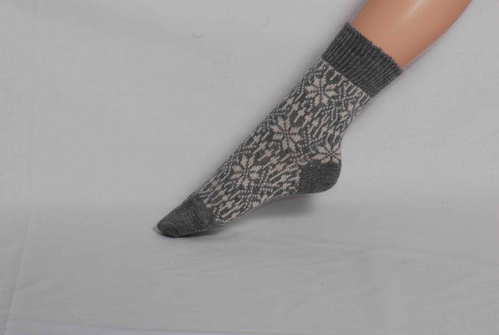 Organic Merino Wool Socks Color: 39 Light Grey/Natural
